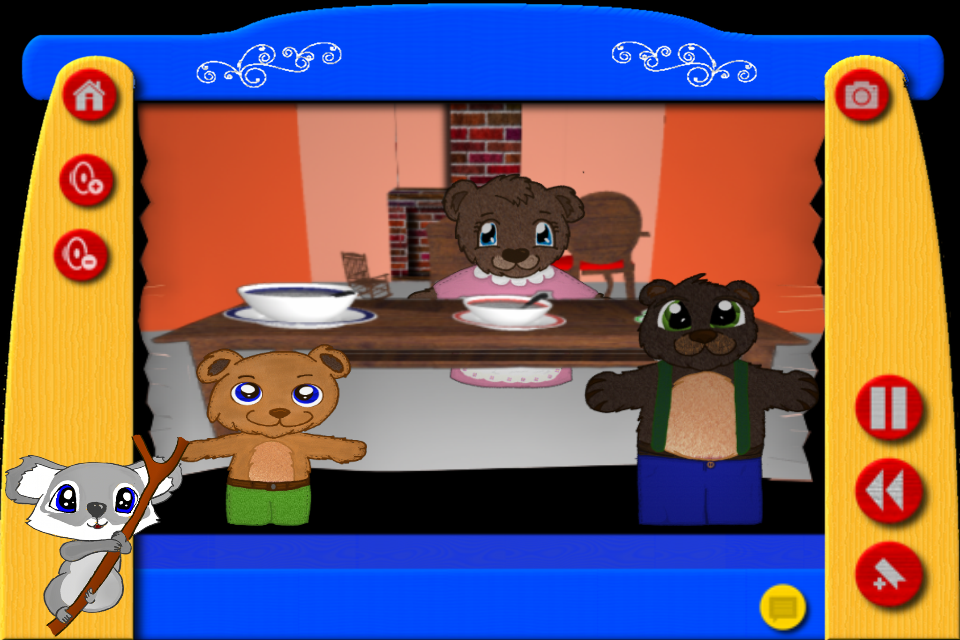 Screenshot Goldilocks and the Three Bears – The Puppet Show